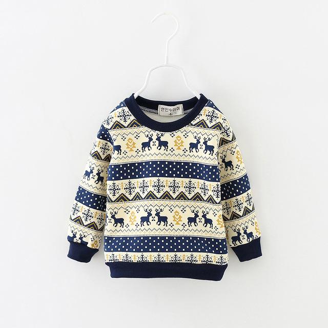 Meninos de outono inverno de algodão crianças gola t-shirt de veludo meninas elefante camisetas crianças roupas