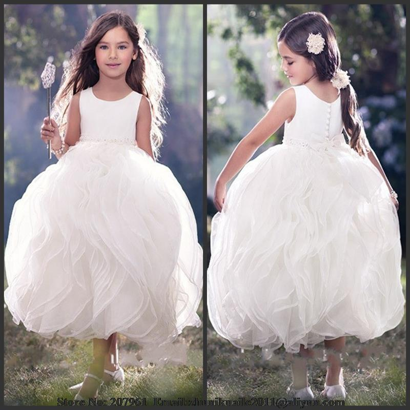 Wedding Dress Lace Flowers : Com buy lace flower girl dresses for wedding flowers ball gown