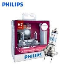 Philips-lámpara halógena H7 x-treme Vision Plus para coche, faro delantero automático de 12V y 55W, homologado ECE, 130% más brillante, 12972XVP S2, 1 par