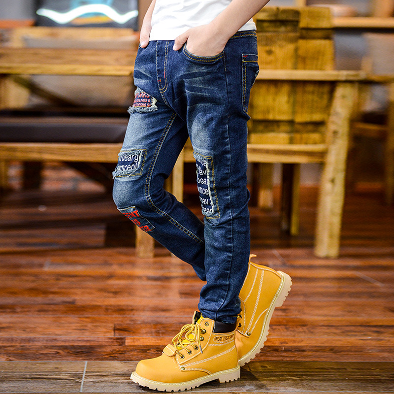 7f0565be9 New Design high quality 2016 Autumn Boy Fashion Denim Jeans,Casual Letter  Cartoon Character Long Pants Trousers Kids Clothing-in Jeans from Mother &  Kids on ...