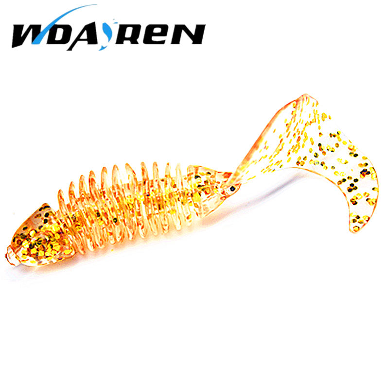 5Pcs/lot Soft Bait silicone bait Worms 6cm 3.2g fishing lure Flexible Curly Tail Grub Artificial Fly Fishing Bait YR-370 10pcs lot 7 5cm 2g soft bait worm swimbaits fishing lure fly fishing bait artificial 8 color silicone t tail lure fa 397