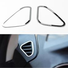 2pcs For Ford focus 2 MK2 2005-2013 stainless steel trim accessories interior outlet decoration ring