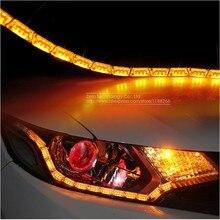 2x Double Color Car Flexible Led Strip, Light Crystal Flexible Tube Light, Daytime Running Light Waterproof Car Styling
