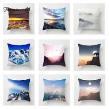 Fuwatacchi Mountain Cushion Cover Hill and Cloud  Square Throw Pillow Decorative Sofa Pillowcase