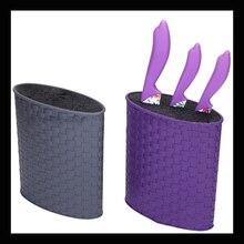 colors  PP Ceramic knife block kitchen knife holder multifunctional plastic knife block with color nylon insert, kitchen k