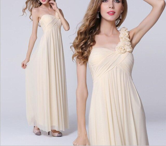 Barato sencillos vestidos las mujeres banquete de boda a line largo ...