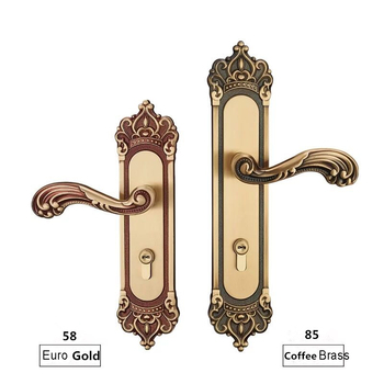 58*45MM   COPPER MATERIAL DOOR HANDLE LOCK WITH LOCK BODY AND CYLINDER