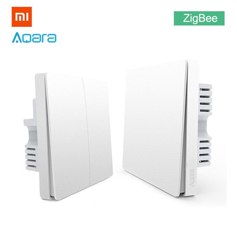 Xiaomi Aqara Light Switch ZigBee No Neutral Version Single Double Button Key Smart Home for MiHome APP MIJIA Gateway Hub Upgrade Кормушка