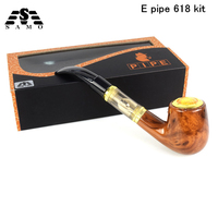 2018 New electronic Cigarette E Pipe 618 Kit Vaporizer kit with wood built in battery vs kamry K1000 Guardian vape kit