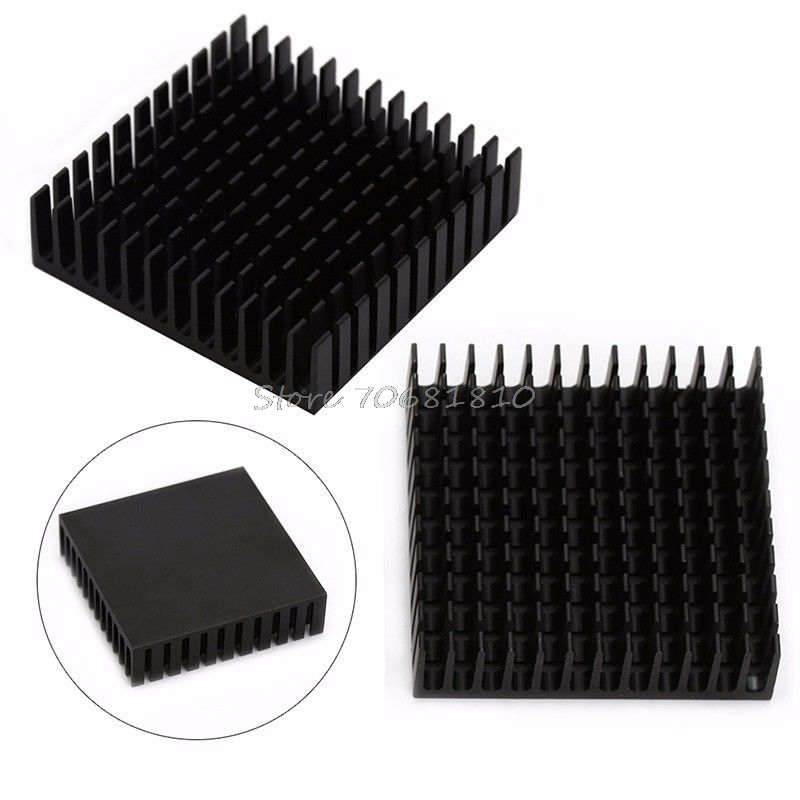 2Pcs Radiator Aluminum Heatsink Extruded Profile Heat Dissipation For Electronic radiator aluminum heatsink extruded profile heat sink for electronic chipset l059 new hot