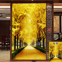 60X90cm Customized 3D porch screen stickers Adhesive wall stickers floor tiles stickers wardrobe doors Decorative sticker