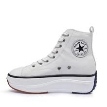 Leinwand Schuhe Frauen Mode Trainer Frauen High Top Sneaker Dame Herbst Weibliche Schuhe Atmungsaktiv Mädchen Weiß Schwarz Turnschuhe