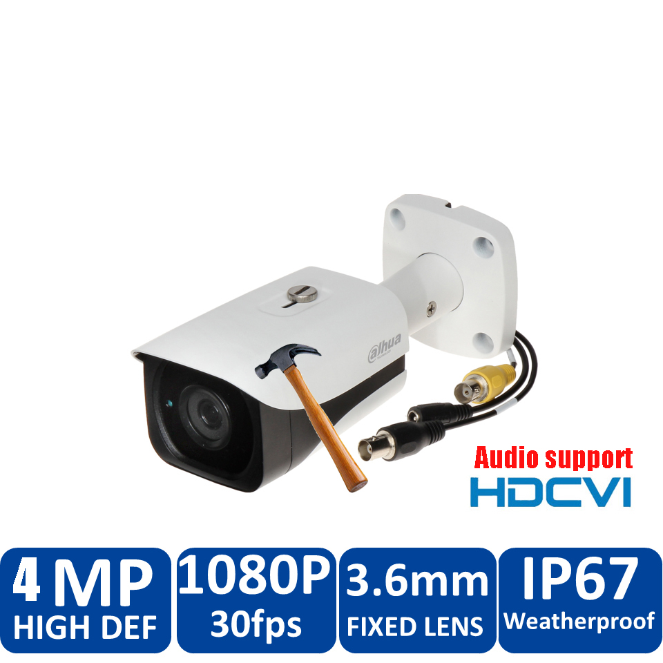 Original Dahua 4MP HDCVI Camera HAC-HFW2401EP HDCVI IR Bullet audio Security Camera CCTV IR distance 50m DH-HAC-HFW2401EP dahua hdcvi 1080p bullet camera 1 2 72megapixel cmos 1080p ir 80m ip67 hac hfw1200d security camera dh hac hfw1200d camera