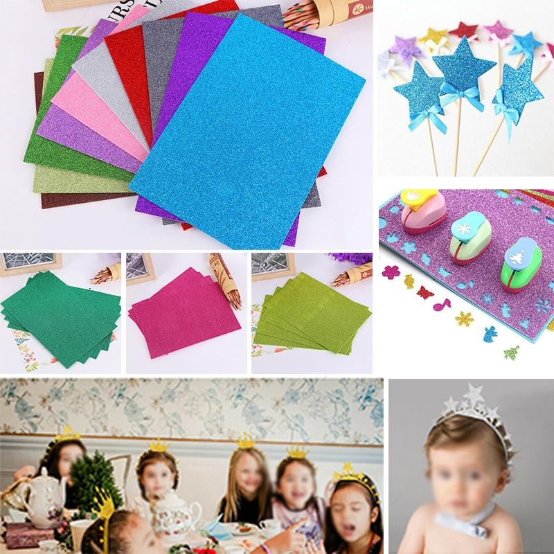 Us 3 31 23 Off 10pcs Glitter Eva Foam Paper Sheet Sponge Soft Touch Arts Crafts Kids Diy A4 Foam Papers In Craft Paper From Home Garden On