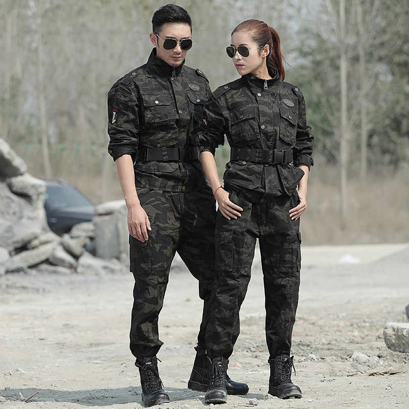 Seragam Militer Taktis Kamuflase Pakaian Musim Dingin Kapas Hangat untuk Pria Black Hawk Seragam untuk Kita Tentara Berburu Pakaian Wanita