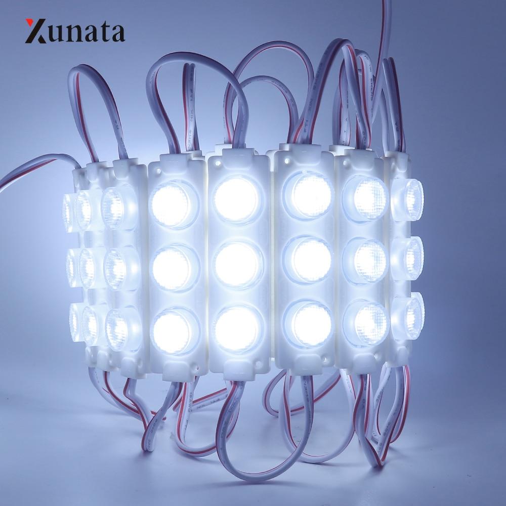 Dc12v 20 pcs 3 w led 모듈 주입 렌즈 smd2835 3 leds/pc 광고 디자인 led 조명 모듈 높은 밝은 모듈