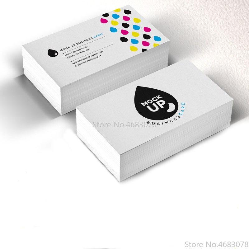 Freies Drucken 200 stücke/500 stücke/1000 stücke/lot Papier visitenkarte 300gsm papier karten mit Custom logo druck Freies Verschiffen 90x53mm