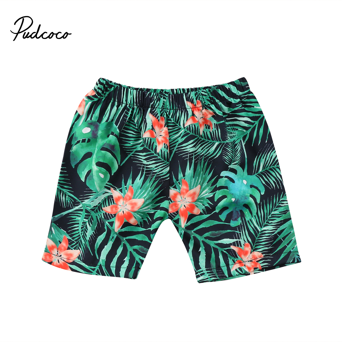 Swimming-Pants Shorts Beach-Pants Baby-Boys Summer Flower Print Floral Sport-Bottoms