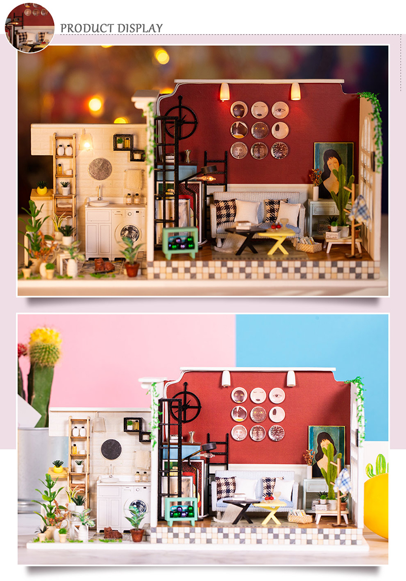 The Old Lane of Time DIY 3D Dollhouse