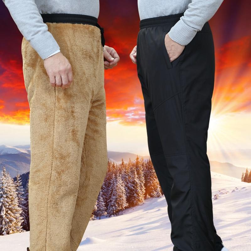 2018 Männer Der Winter Hosen Große Größe Wolle Innen Winter Warme Männer Dicke Hose Plus Größe M-6xl Herren Fleece Hosen Hosen