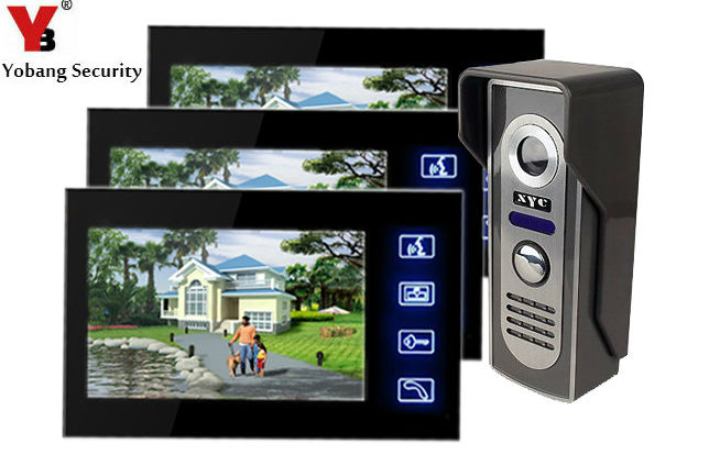 Yobang Security Video Door Phone Vidoe Intercom Home Security IR Camera Monitor Night Vision house doorbell button doorbell цена и фото