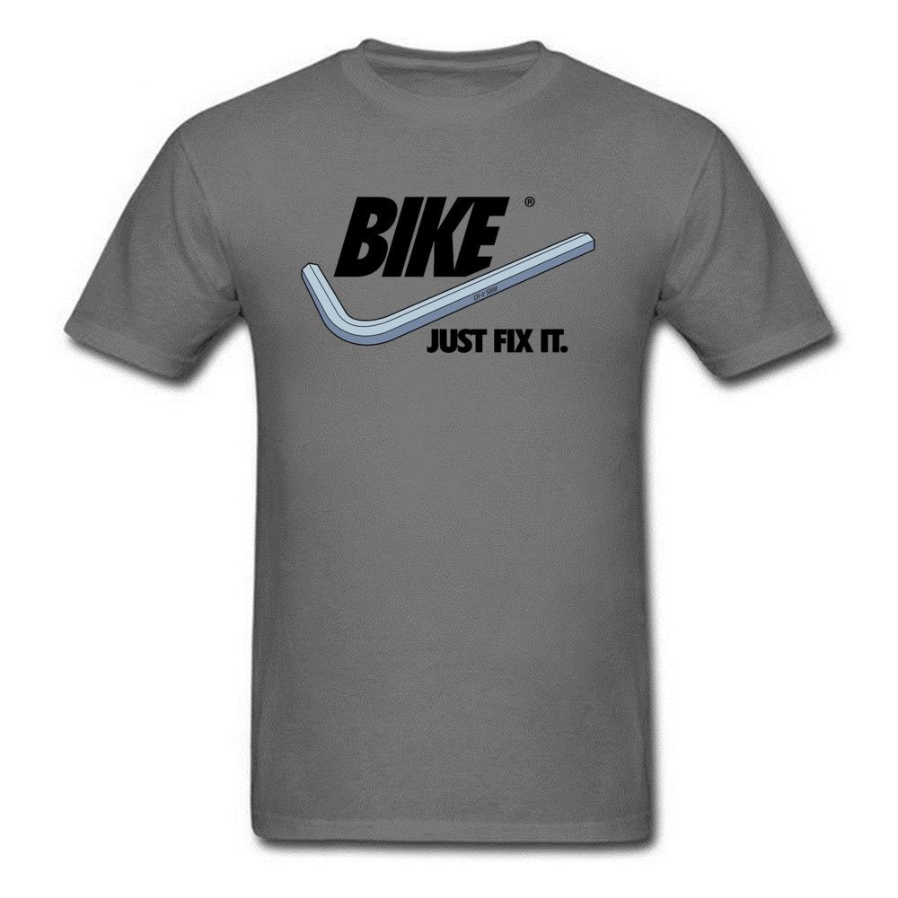 BIKE Just Fix It Blue Tshirt Letter Quotes Title Text Headline Biker Mens Summer Autumn Tees Print New T Shirt Overiszed Casual in T Shirts from Men 39 s Clothing