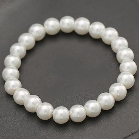 Fashion Jewelry White Imitation Pearl Stretch Bracelet For Women  Accessories Christmas Gifts Pulseira Feminina Jewelry Bijoux 98cb139e2c45