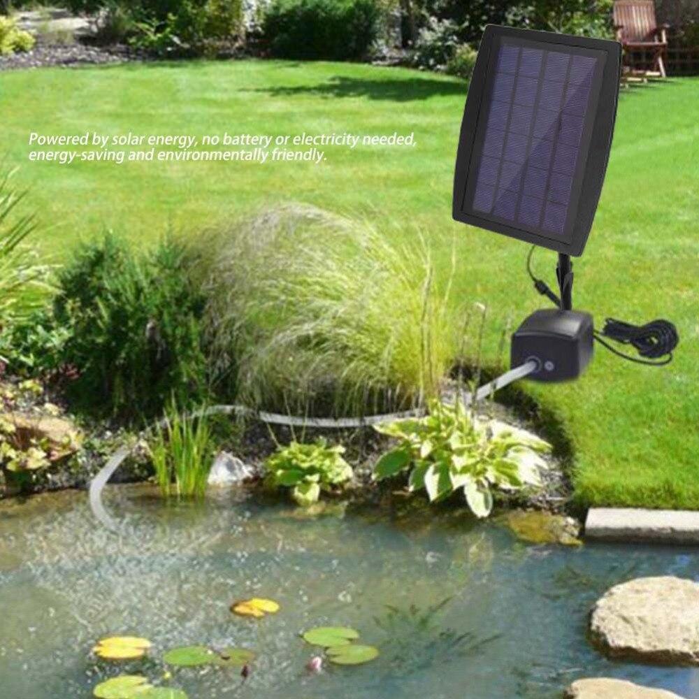 1L/min solaire alimenté oxygénateur aérateur pompe à Air oxygène silencieux solaire alimenté pour piscine extérieure étang réservoir de poisson débitmètre d'air fabricant