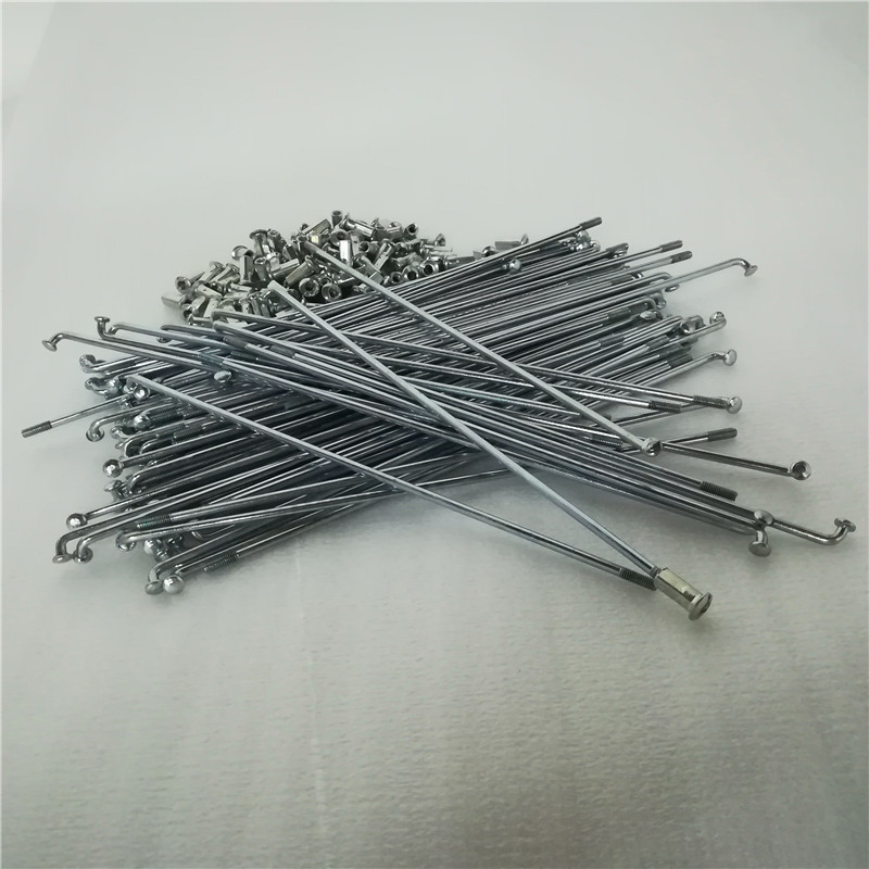 32pcs 10G spokes 3mm J bend electric bicycle bike spoke motorcycle radios silver color for motorcycle