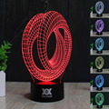 Colorful abstract acrylic LED stereo and light touch switch 3 d  Basket Led Enfant Night Light For Children Table Lamp 3d Lamp