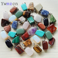 Free Shipping New Jewelry 2014 Hot Selling Natural Stone Fashion Irregular Shape Opal Pendants 36ps DIY