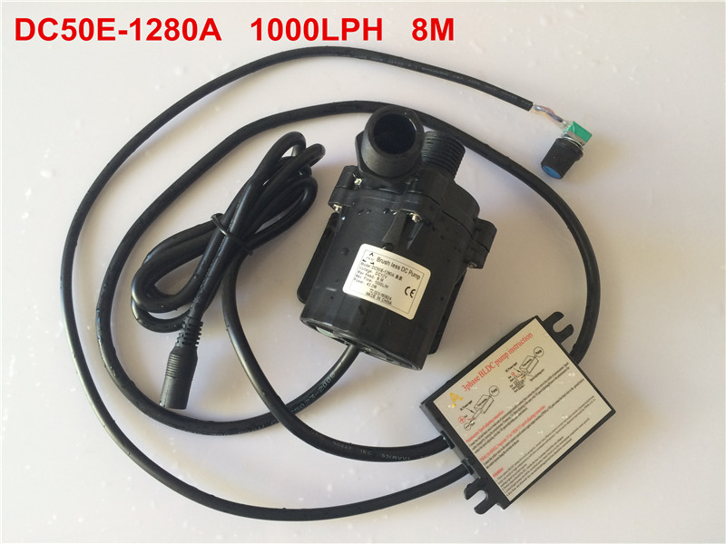 2pcs/ Lot 12V DC Flow Rate Adjustable pump Water circulating pump 8M 1000LPH, Solar Submersible Water Pump Free shipping mini water pump zx43a 1248 plumbing mattresses high temperature resistant silent brushless dc circulating water pump 12v 14 4w