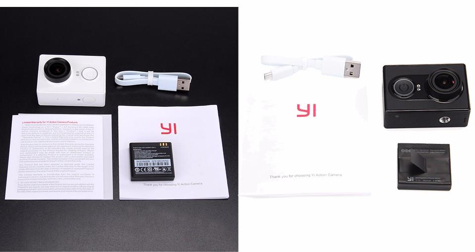 [International Edition]Original Xiaomi YI Action Camera Xiaoyi 1080P Sports Camera WiFi 3D Noise Reduction 16MP 60FPS Ambarella 33