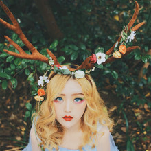 deer antlers christmas headband girl decorations party supplies personalized head hoop big women