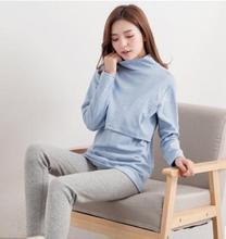 Szoptatási ruhák 2018 tavaszi őszi pamut rongyos szoptatás ruhák terhes nők számára WX938