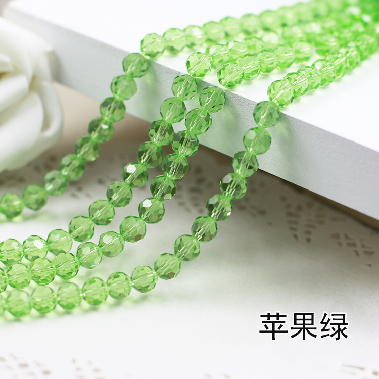 Wholesale~ Peridot Color 5000# Crystal Glass Beads Loose Round Stones Spacer for Jewelry Garment.4mm 6mm 8mm 10mm wholesale light siam color 5000 crystal glass beads loose round stones spacer for jewelry garment 4mm 6mm 8mm 10mm