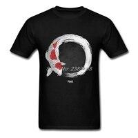 패션 인쇄 남성 T 셔츠 힙합 하라주쿠 인쇄 잉어 물고기 남성 티셔츠 쿨 탑 3XL