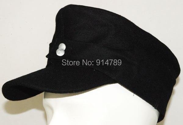 WWII GERMAN WH ELITE EM M43 PANZER WOOL FIELD CAP SIZE L -3461