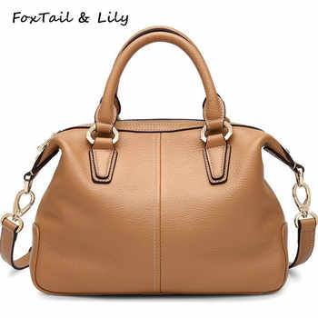 FoxTail & Lily Genuine Cow Leather Handbags Women Famous Designer Leather Shoulder Messenger Bags Fashion Ladies Crossbody Bags - DISCOUNT ITEM  49% OFF All Category