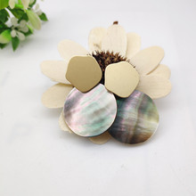 2019 new fashion natural shell earrings 25mm round white pendant for women party jewelry PPP