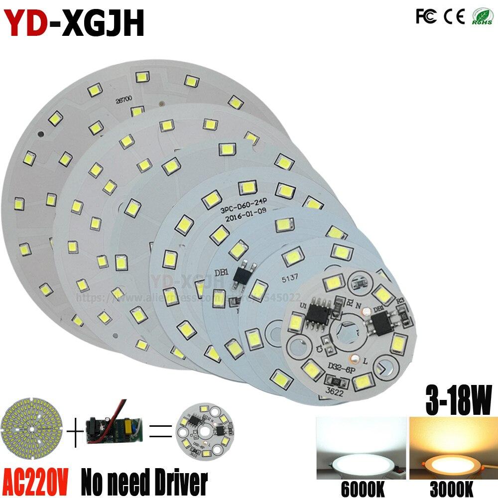 10PCS 220V Driverless 3W5W7W9W18W LED Downlight Retrofit Board Highlight 2835 Patch Light Source Replacement Light Source Board