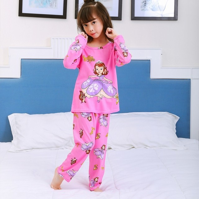cadf1deef28e 2018 Children Clothing Autumn Winter Girls Baby Pajamas Boy cute Nightgown  Kids Home wear Cltoh Girl