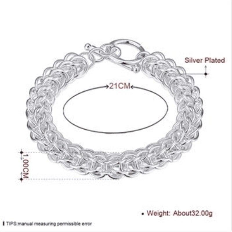 Jewelry & Accessories Brand Charm Bracelets & Bangles 925 Sterling Silver Women Elegant Fashion Wedding Party Jewelry New Sl 130