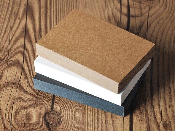 2be83a12b 50 100 hojas Kraft liso cartulina 300gsm de papel en blanco de papel blanco  de cartón negro papeles de 100 150mm en Carta Pad Papel de Oficina y  escolares ...