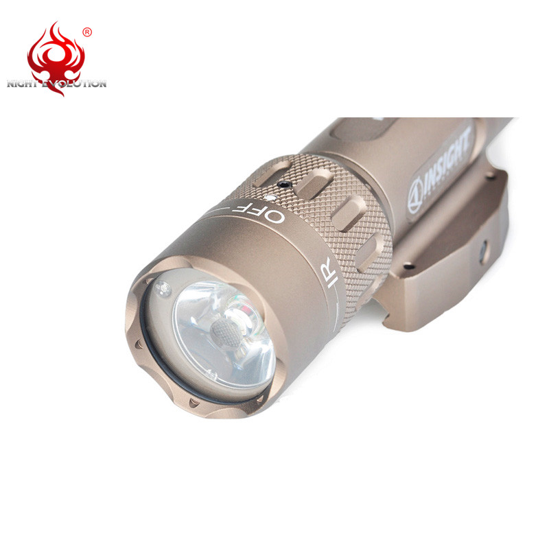 Image 2 - Night Evolution WMX200 Airsoft Military Tactical Gun Led Flashlight Strobe IR Light for Picatinny Rail Hunting Spotlight NE04014-in Weapon Lights from Sports & Entertainment