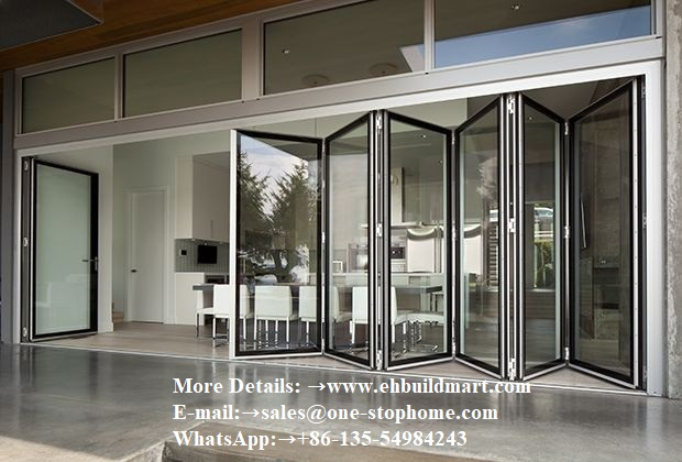 Aluminum Bi-Folding Door,Aluminium Folding Exterior Doors,Folding Door,Outdoor Door,Soundproof Door,Patio Door