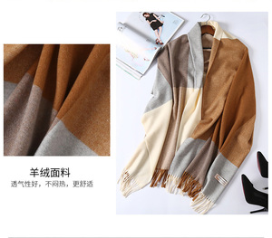 Image 4 - 2020 New Real Cashmere Scarf Stole Plaid Wool Scarves For Women Winter Warm Female Poncho Cape Fashion Lady 100 Pashmina Shawls