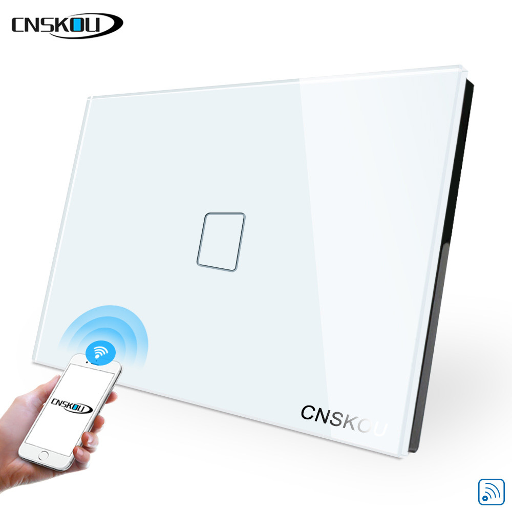 Ewelink Tuya Wifi Smart Life Wall Switch Smart Home Usa Standard 1 Gang 1 Way 240v App Voive Control Touch Swtich