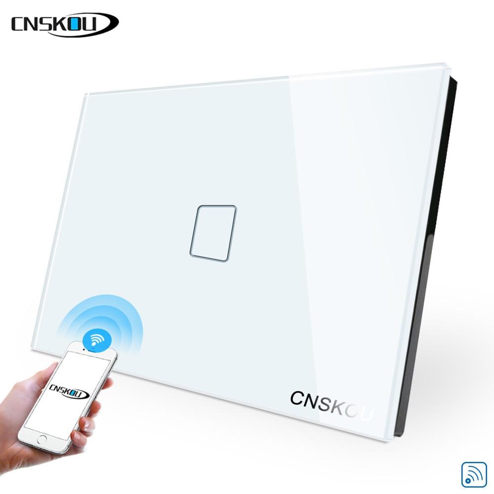 USA AU Wifi Smart Light Wall Touch Switch Interruptor 1/2/3 Gang Tuya Ewelink App Control