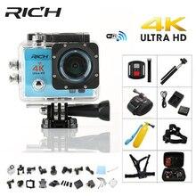 RICH Action camera Ultra HD 4 K WiFi Full 1080 P 60fps Diving camera Sport Cameras go Q5 pro underwater waterproof Helmet Cam